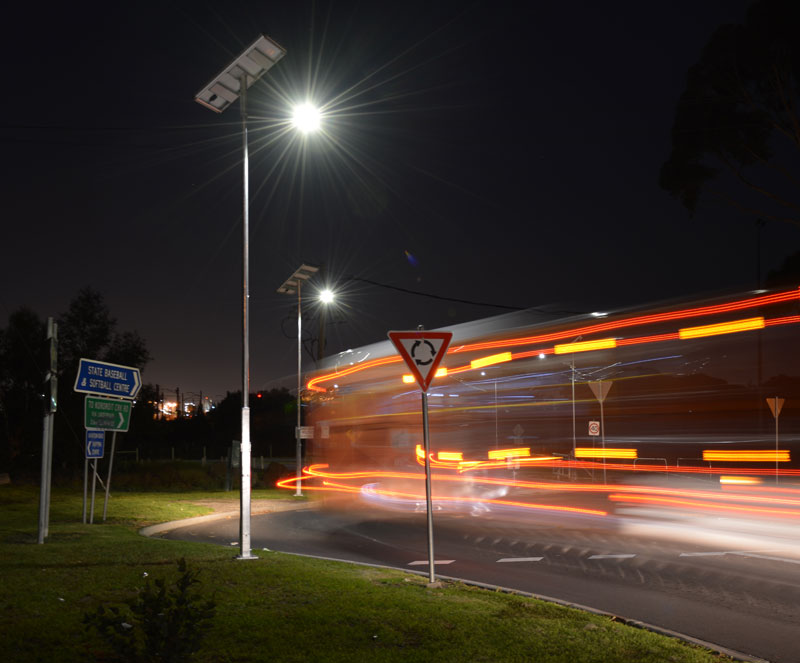 sustainable integrated solar LED light